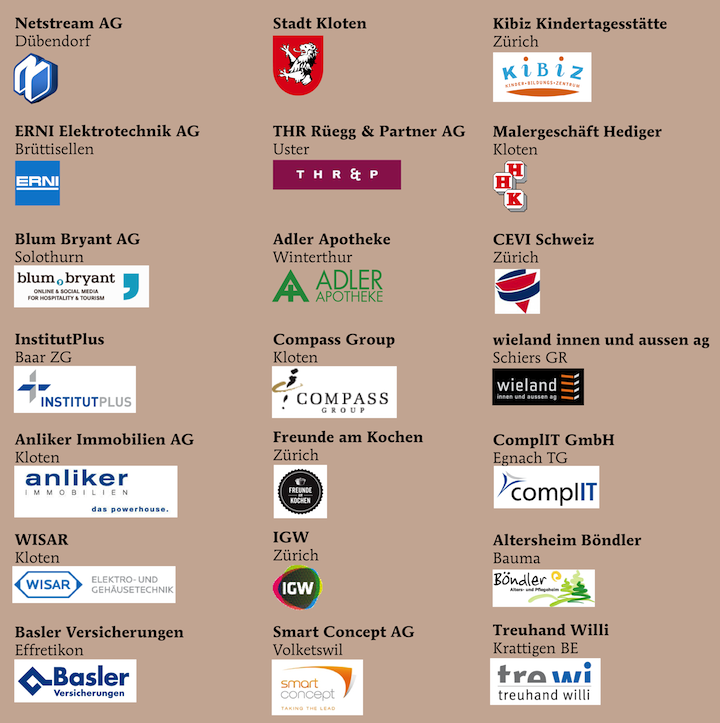 Bild mit Referenzen der Firmenkunden aus dem Jahr 2015