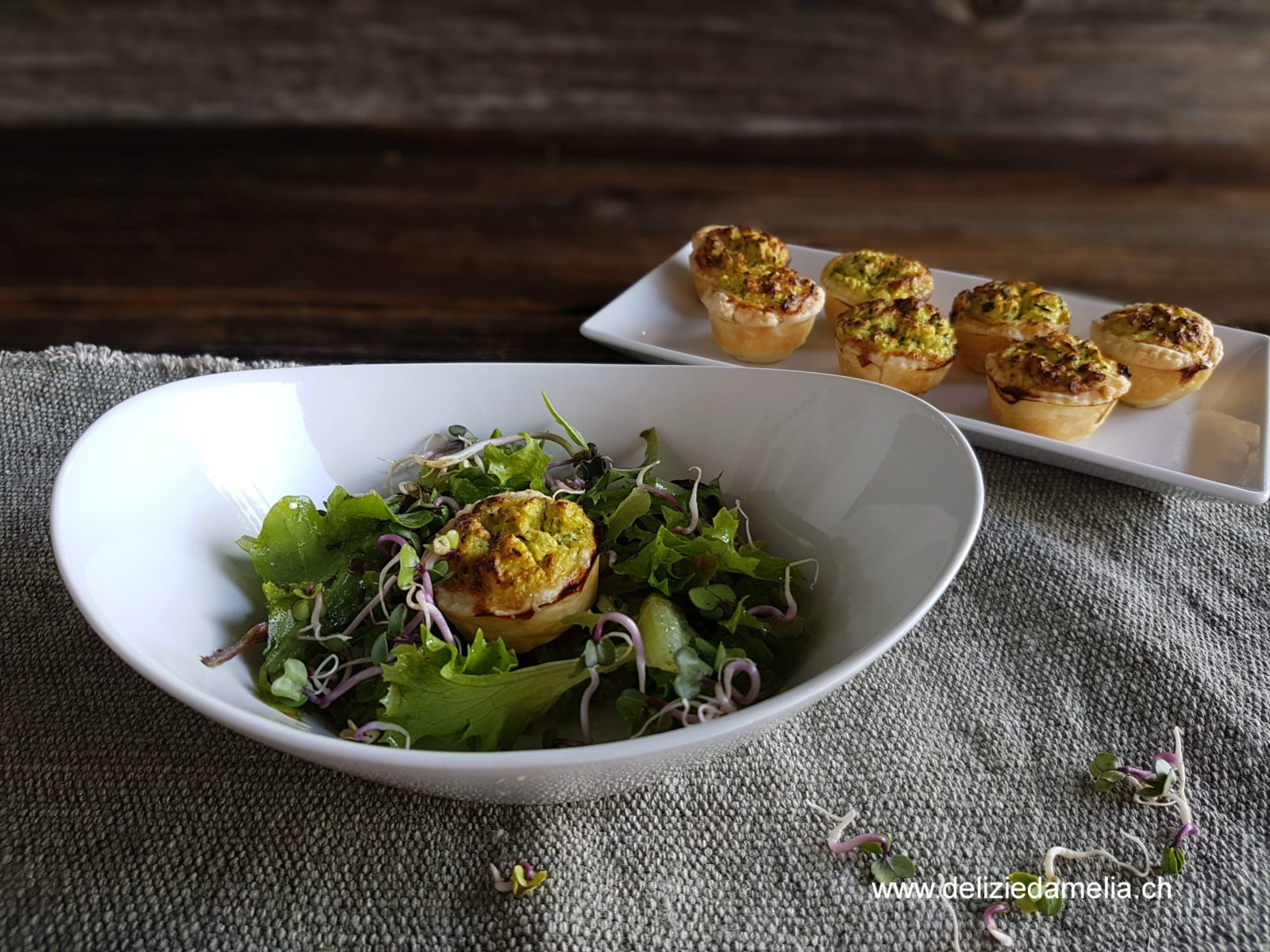 Blätterteigkörbchen mit Würzmeister Kräuterbuttermix als Vorspeise von delizie d'Amelia